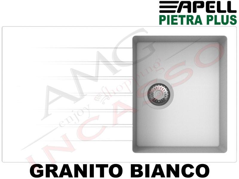 Lavello Fragranite Incasso New Pietra Plus 1 Vasca cm.86X50 Granito Avena