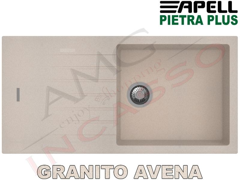 Lavello Cucina New Pietra Plus 1 Vasca cm.100X50 Fragranite Avena ...