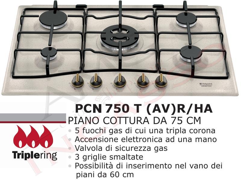 Piano Cottura Cucina Tradizione 5 Fuochi Gas cm.75 Avena | AMG ...