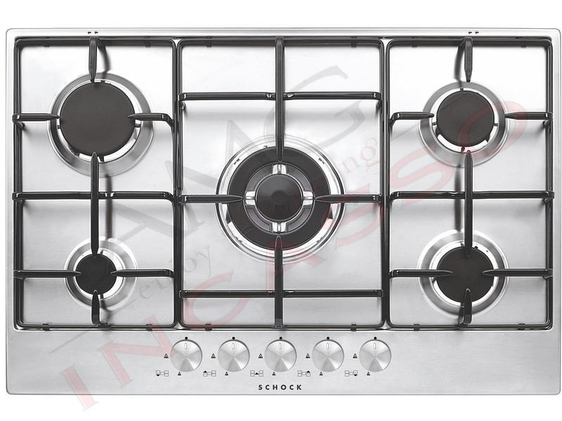 Offerta Promozionale!!! Piano Cottura Cucina Silver cm.75 5 Fuochi ...