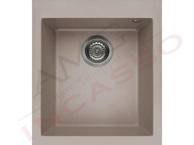 Lavello Cucina 1 Vasca cm.41X50 Quadra Granitek® G43 Tortora ...