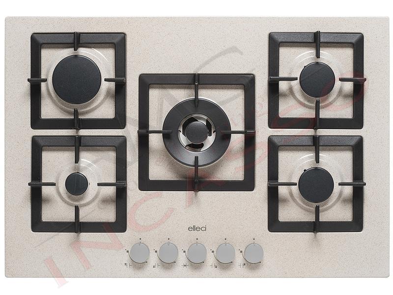 Piano Cottura Cucina Plano 5 Fuochi Gas cm.75 Griglie in Ghisa Avena ...
