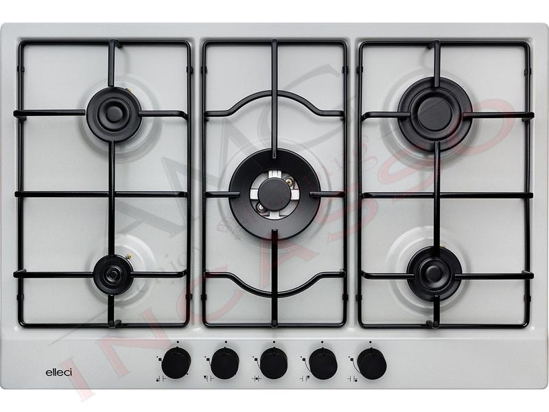 Piano Cottura Cucina Style 5 Fuochi Gas cm.75 Aluminium | AMG ...