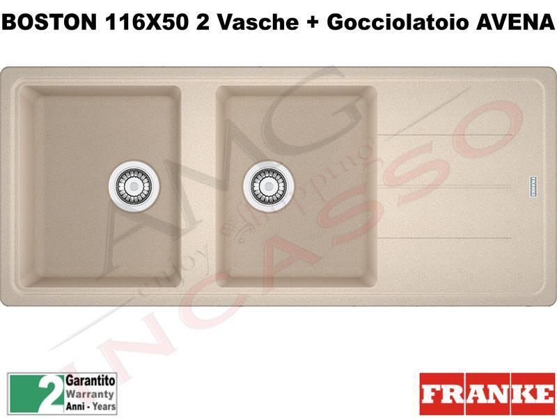 Lavello Franke BFG621 9899996 Boston 116 X 50 2V + Gocc ...