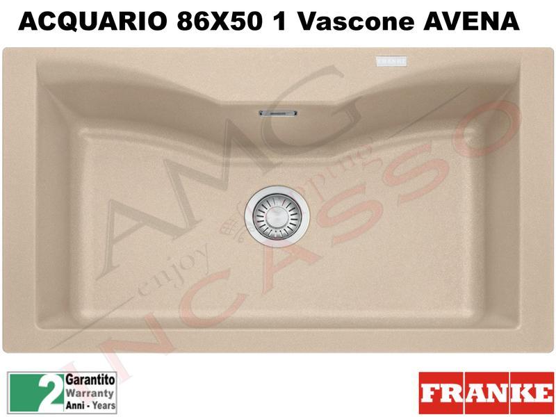Lavello Fragranite Franke CG610-N Acquario 86X50 1V Bianco ...