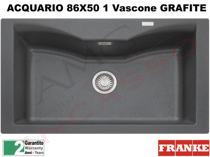 Accessori Lavello Franke Acquario.Lavello Fragranite Franke Cg610 N Acquario 86x50 1v Grafite