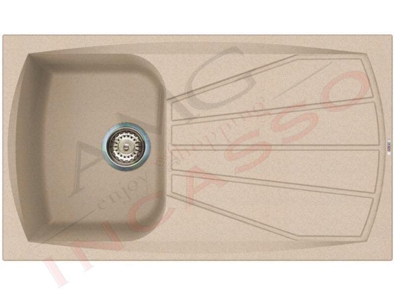 Lavello Cucina Pietra Plus 1 Vasca cm.86x50 Fragranite Avena   AMG ...