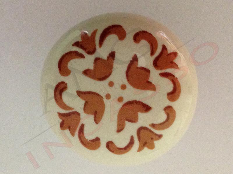 Pomolo Pomello 669-77 vietri beige porcellana ceramica rotondo ba ...