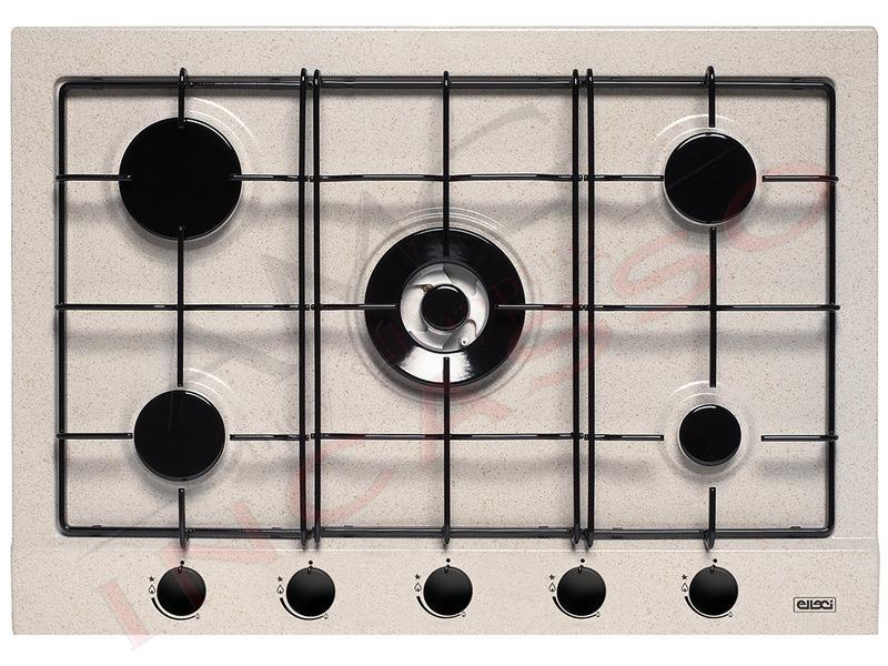 Piano Cottura Cucina Style 5 Fuochi Gas cm.75 Avena | AMG incasso ...