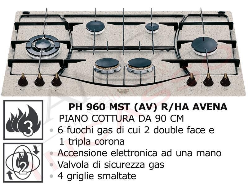 Piano Cottura Cucina Tradizione 6 Fuochi Gas cm.90 Avena [PH 960MST (AV)  R/HA]