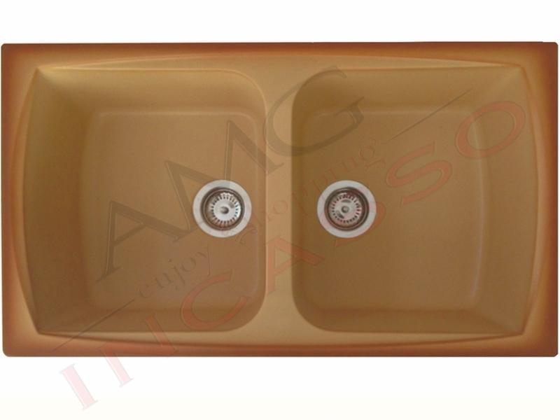 Lavello Elleci Master 350 LSM35012 79 X 50 2 Vasche Terra di ...
