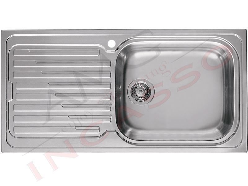 Lavello Sky 480 LIK480SACDX 100 X 50 1 vasca Destra con gocciolatoio ...