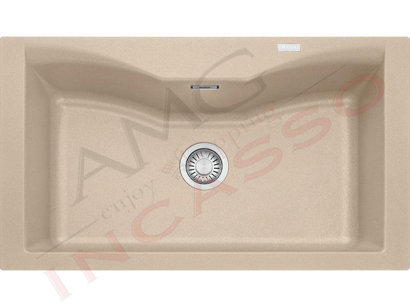 Lavello Cucina Acquario ACG610-N 1 Vasca cm.86X50 Fragranite Avena ...