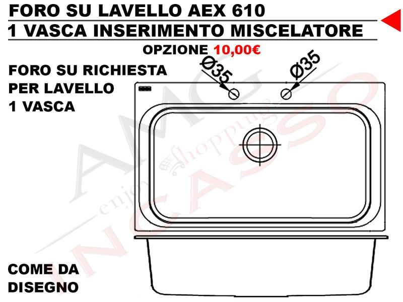 Accessori Lavelli Franke Acquario.Lavello Franke Acquario Line Aex 610 Cod 8885500 860x510
