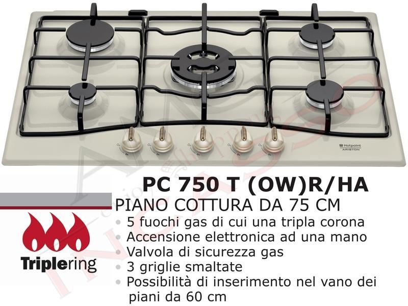 Piano Cottura Cucina Rustico cm.75 Tradizione 5 Fuochi Bianco ...