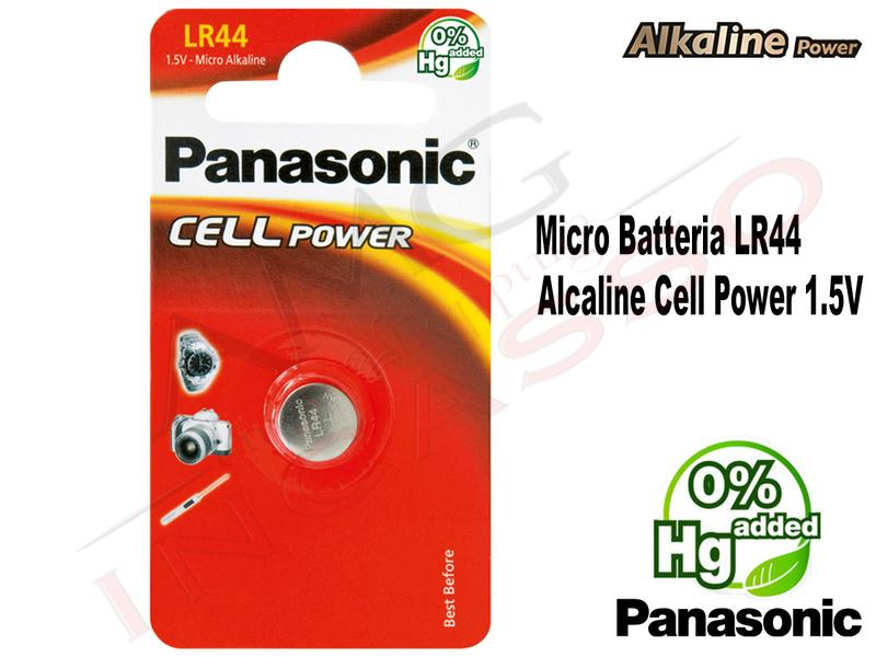 1 Micro Batteria LR-44EL/1B Bottone1,5 V Alcalina Cell Power Panasonic Micro
