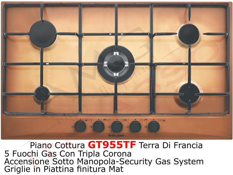 Piano Cottura 90 GT955TF 4 F+1 Tripla Corona Terra di Francia | AMG ...