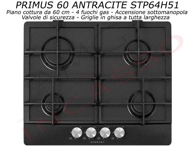 Piano Cottura Schock Primus PC60 AVG STP64H43 4 Fuochi Asphalt | AMG ...