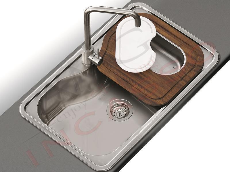 apell crema  Lavello Apell Criteria CR800IBC 80 X 50 1 Vascone Acciaio Spazzolato ...