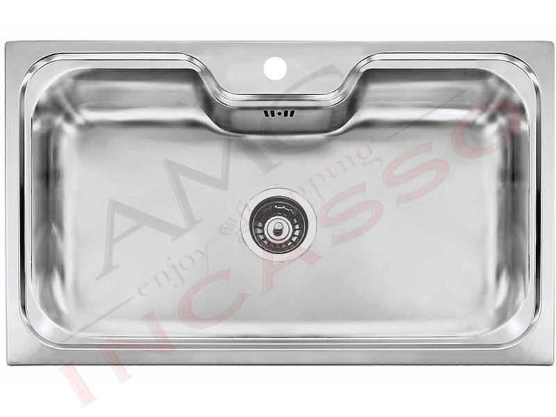 Lavello Cucina Criteria 1 Vasca / Vascone cm.86X50 Acciaio ...